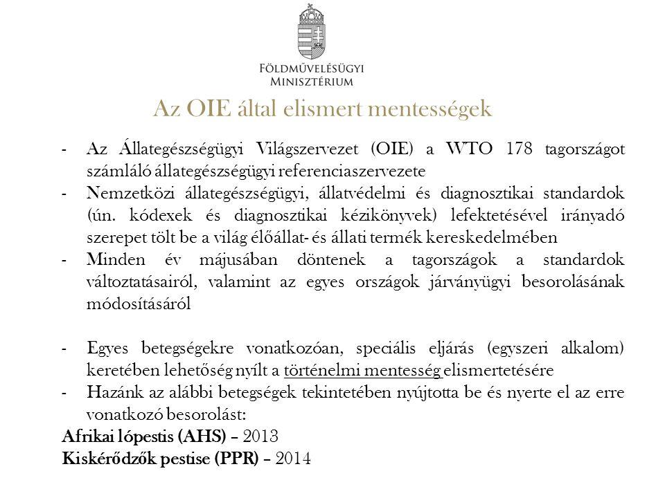 Az OIE által elismert mentességek