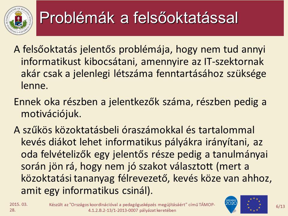 Problémák a felsőoktatással