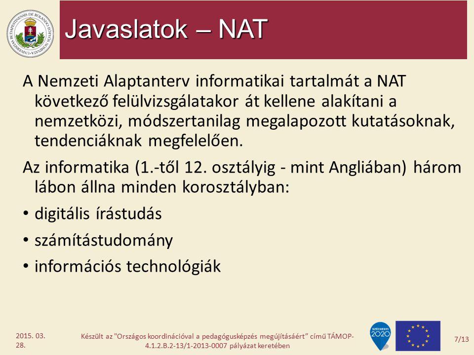 Javaslatok – NAT