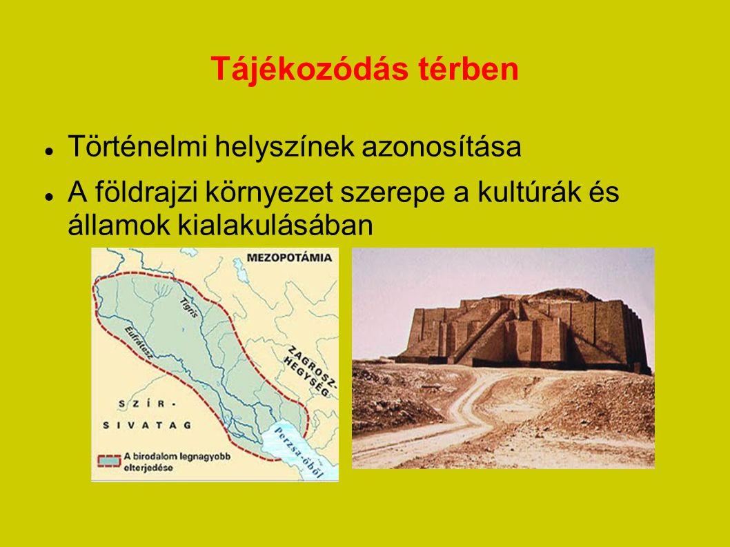 Tájékozódás térben Történelmi helyszínek azonosítása