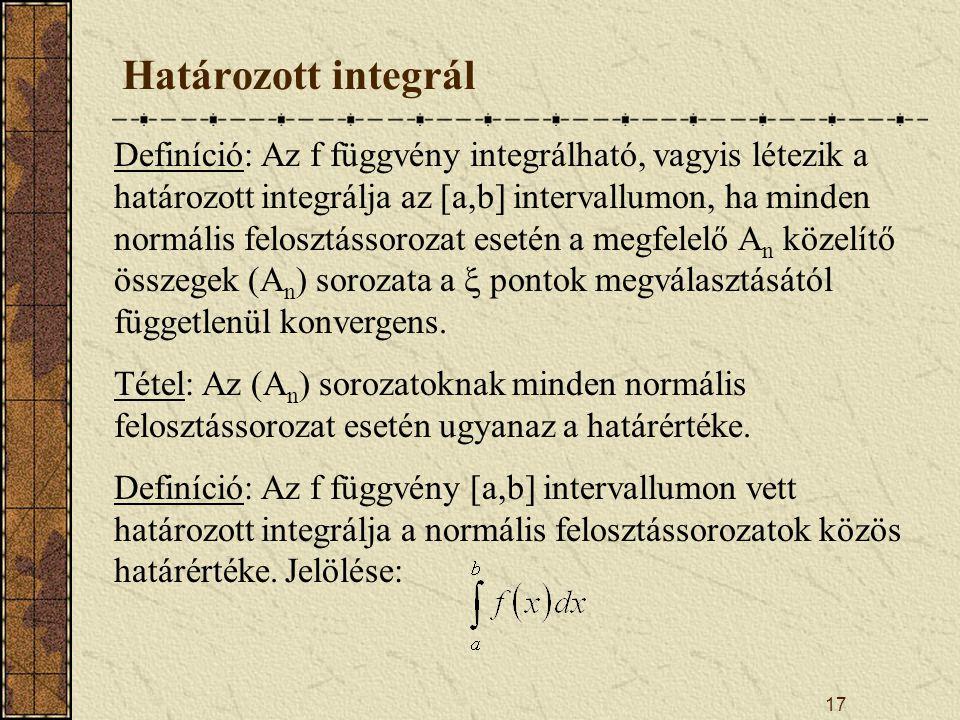 Határozott integrál