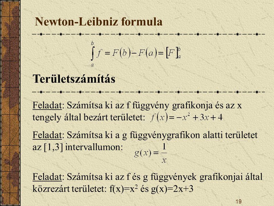 Newton-Leibniz formula