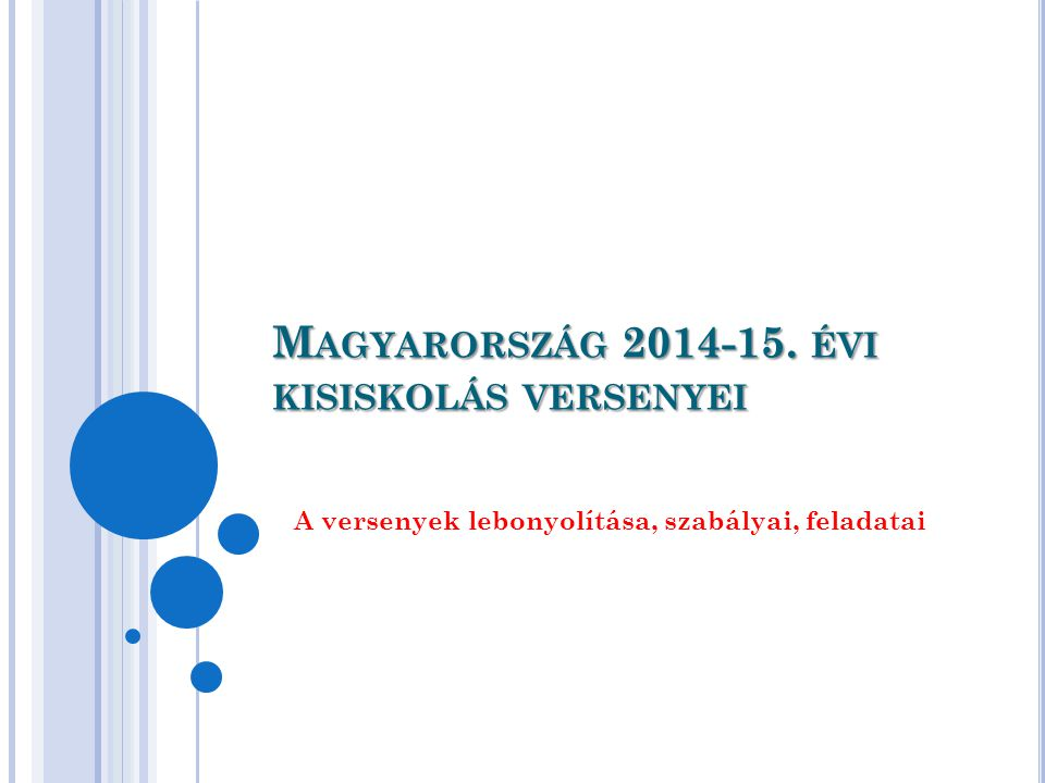 Magyarország 2014-15. évi kisiskolás versenyei