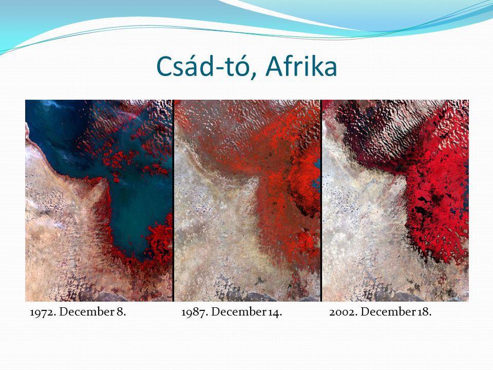 Csád-tó, Afrika 1972. December 8. 1987. December 14.