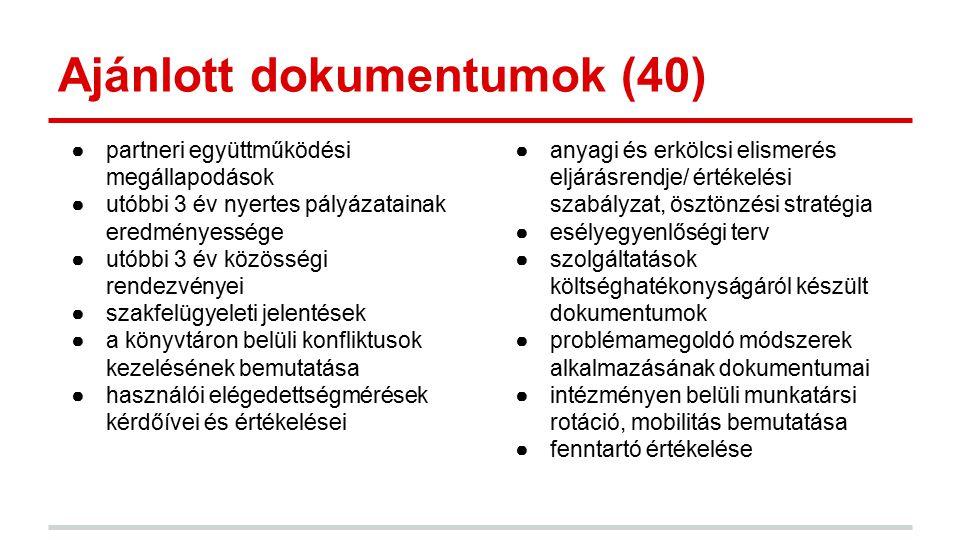 Ajánlott dokumentumok (40)