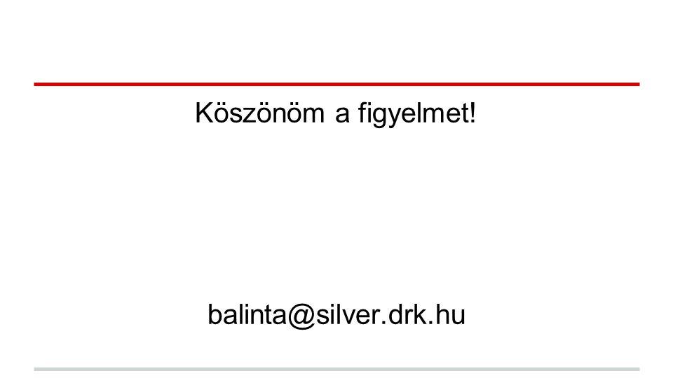 Köszönöm a figyelmet! balinta@silver.drk.hu