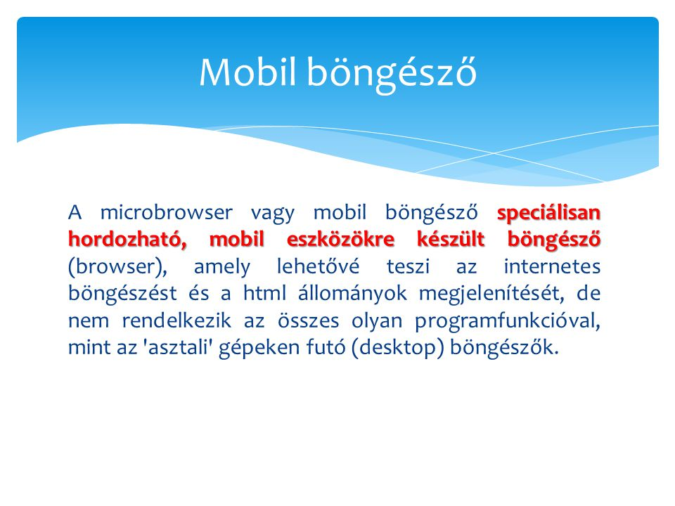 Mobil böngésző