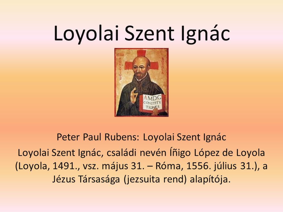 Peter Paul Rubens: Loyolai Szent Ignác