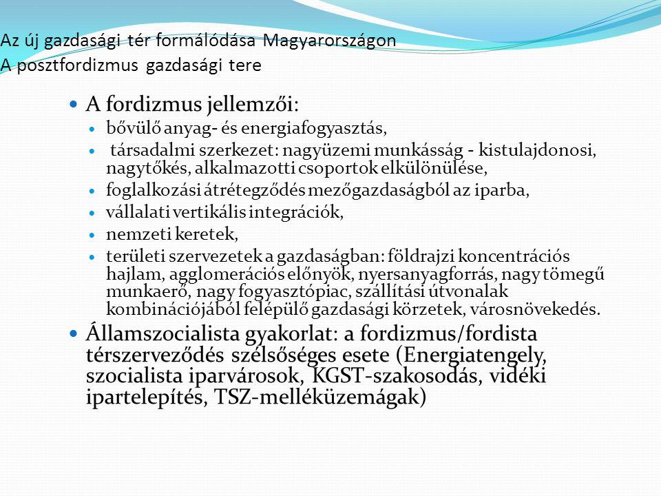A fordizmus jellemzői: