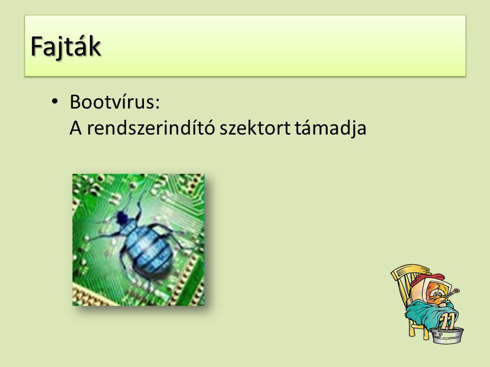 Fajták Bootvírus: A rendszerindító szektort támadja