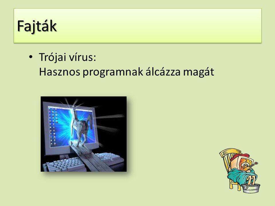 Fajták Trójai vírus: Hasznos programnak álcázza magát