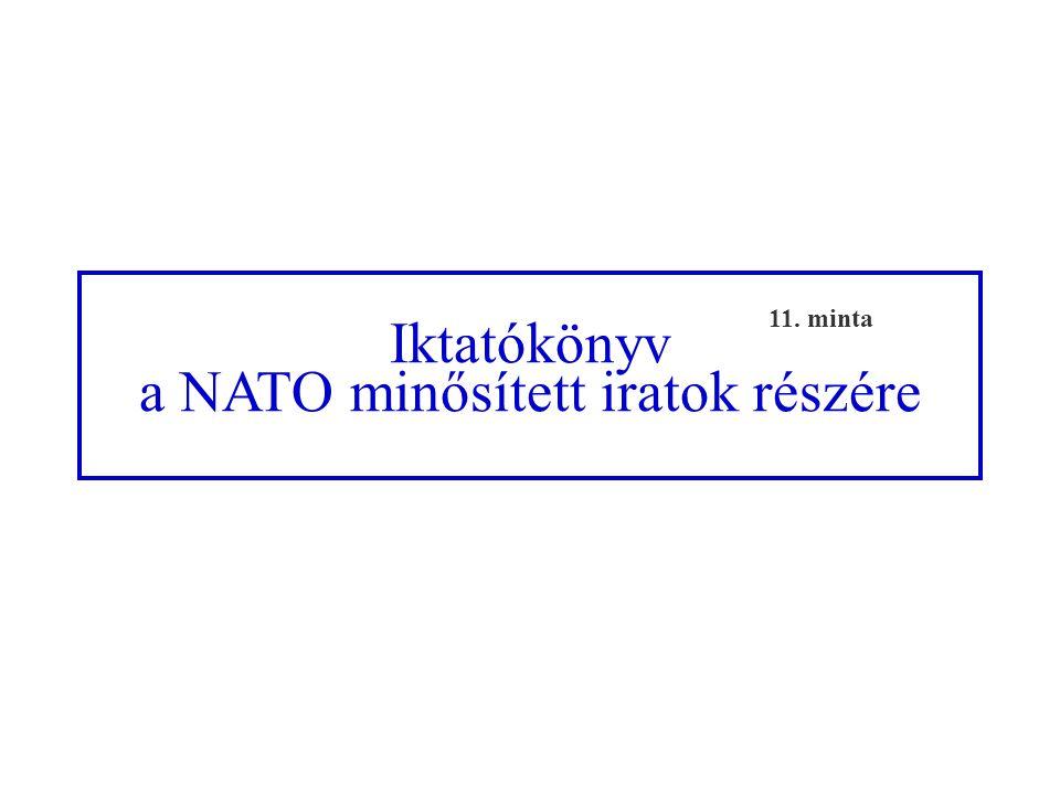 a NATO minősített iratok részére