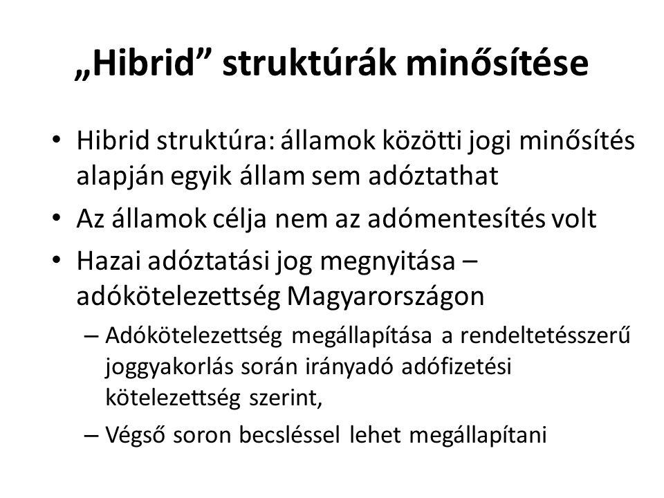 """""""Hibrid struktúrák minősítése"""