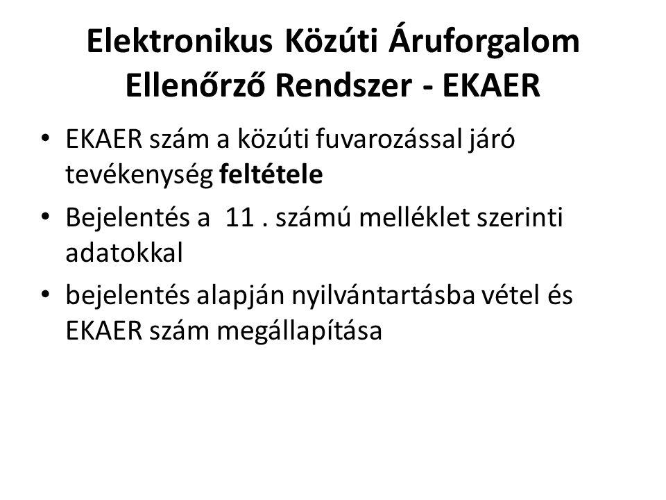 Elektronikus Közúti Áruforgalom Ellenőrző Rendszer - EKAER