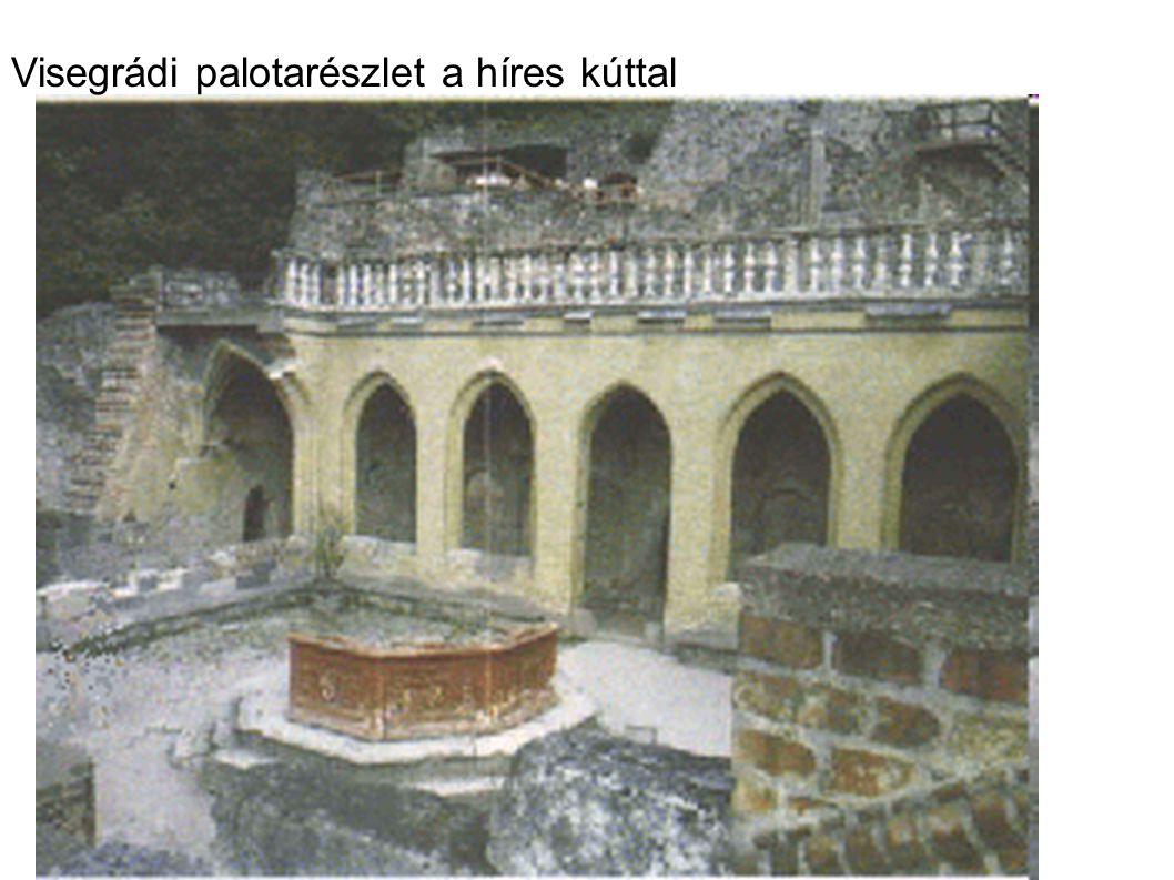 Visegrádi palotarészlet a híres kúttal