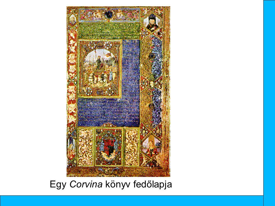 Egy Corvina könyv fedőlapja
