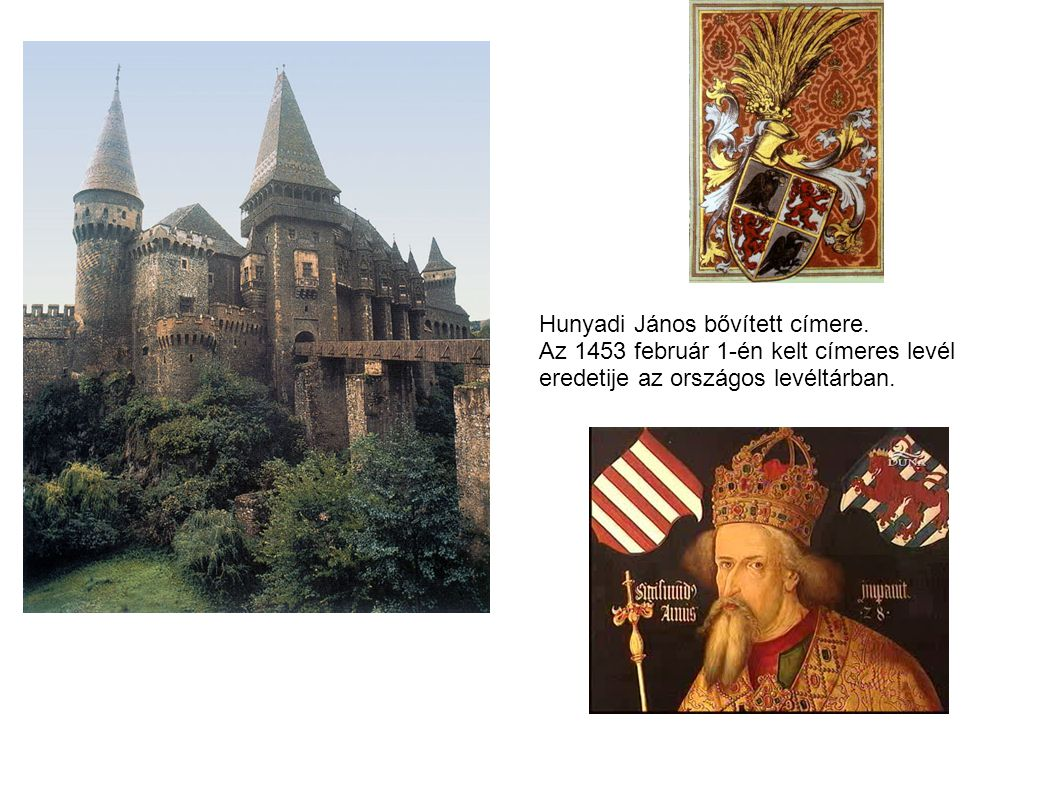 Hunyadi János bővitett czimere