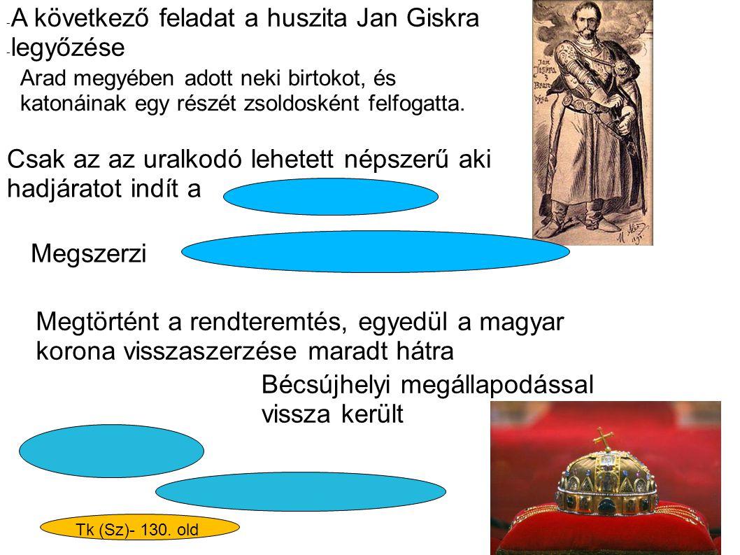A következő feladat a huszita Jan Giskra legyőzése