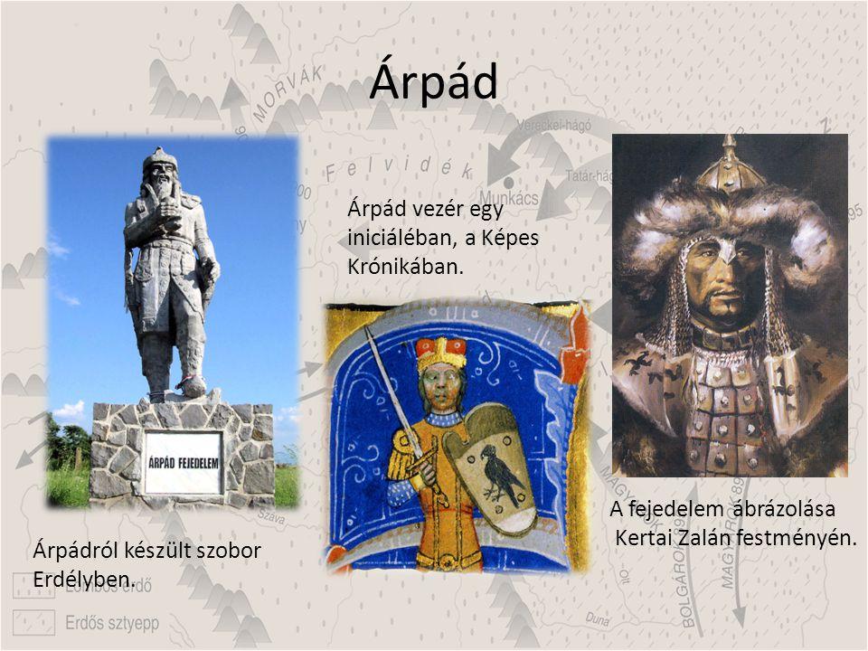 Árpád Árpád vezér egy iniciáléban, a Képes Krónikában.