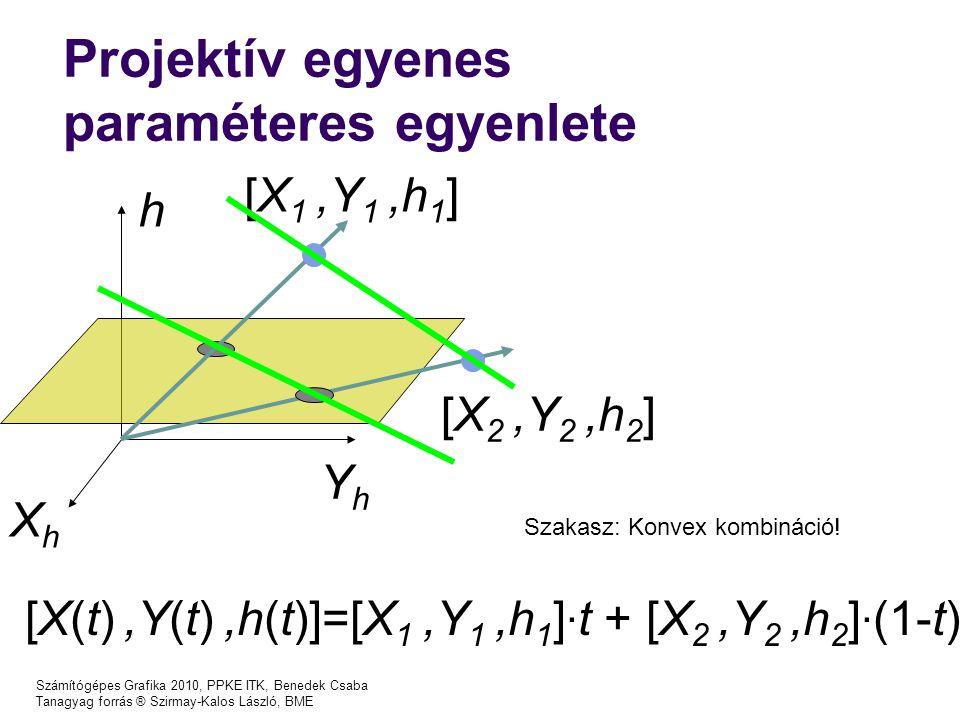 Projektív egyenes paraméteres egyenlete