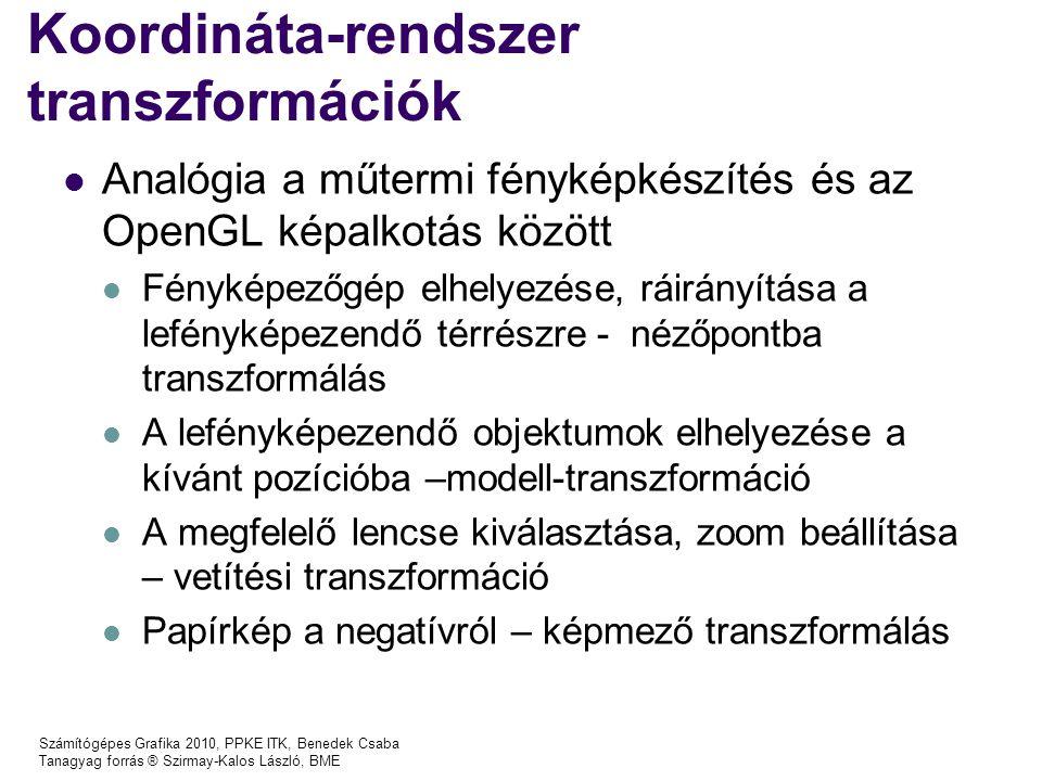 Koordináta-rendszer transzformációk