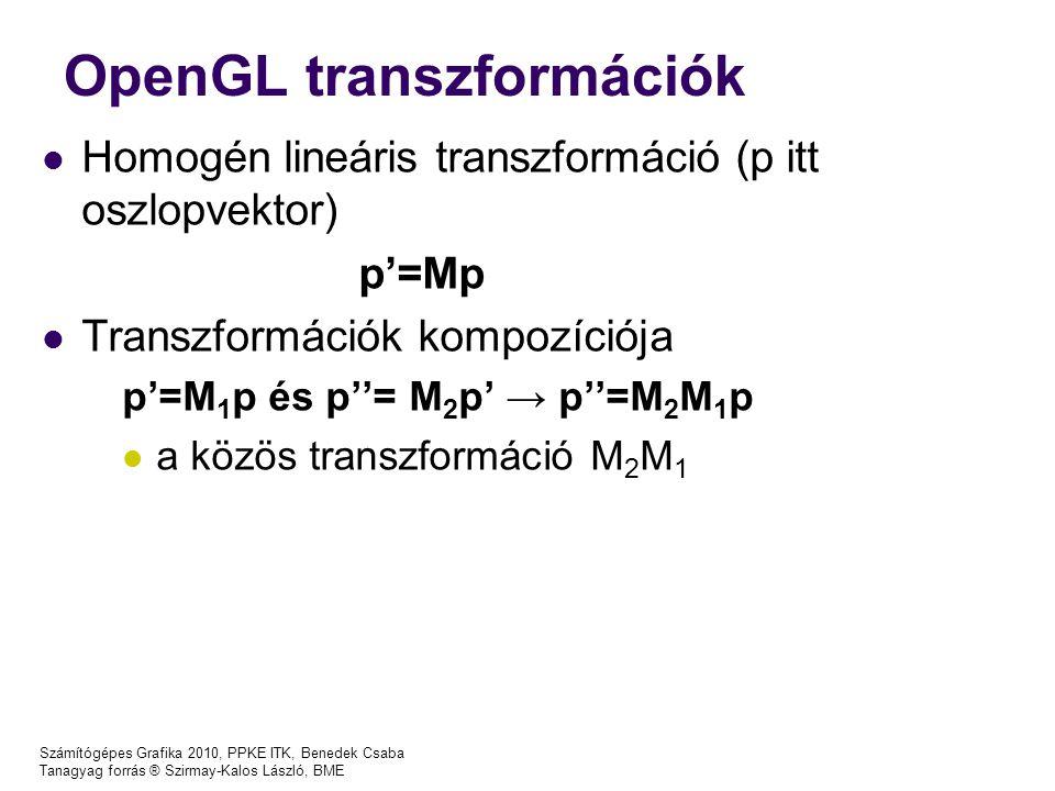 OpenGL transzformációk