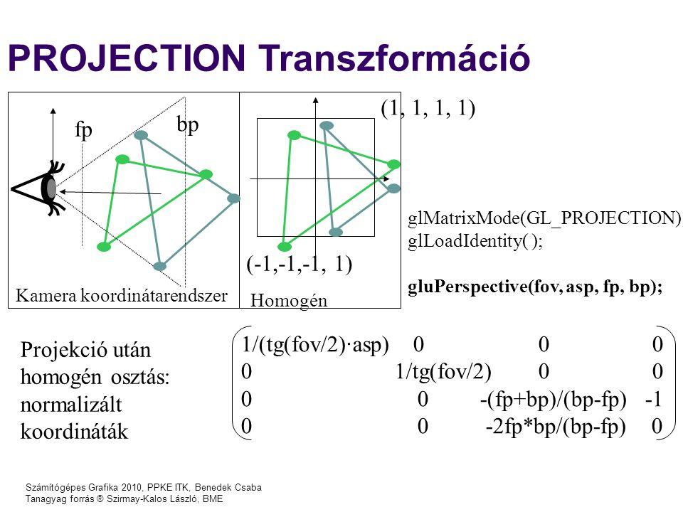 PROJECTION Transzformáció
