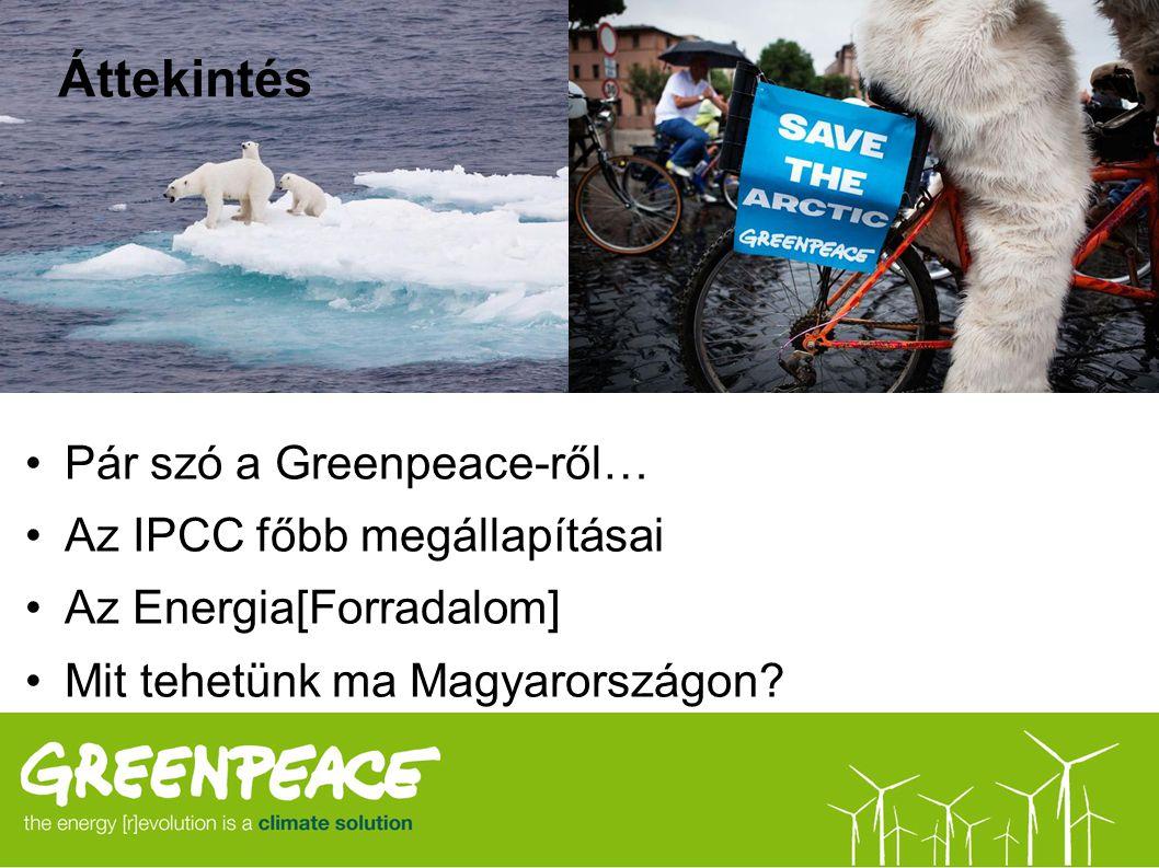 Áttekintés Pár szó a Greenpeace-ről… Az IPCC főbb megállapításai