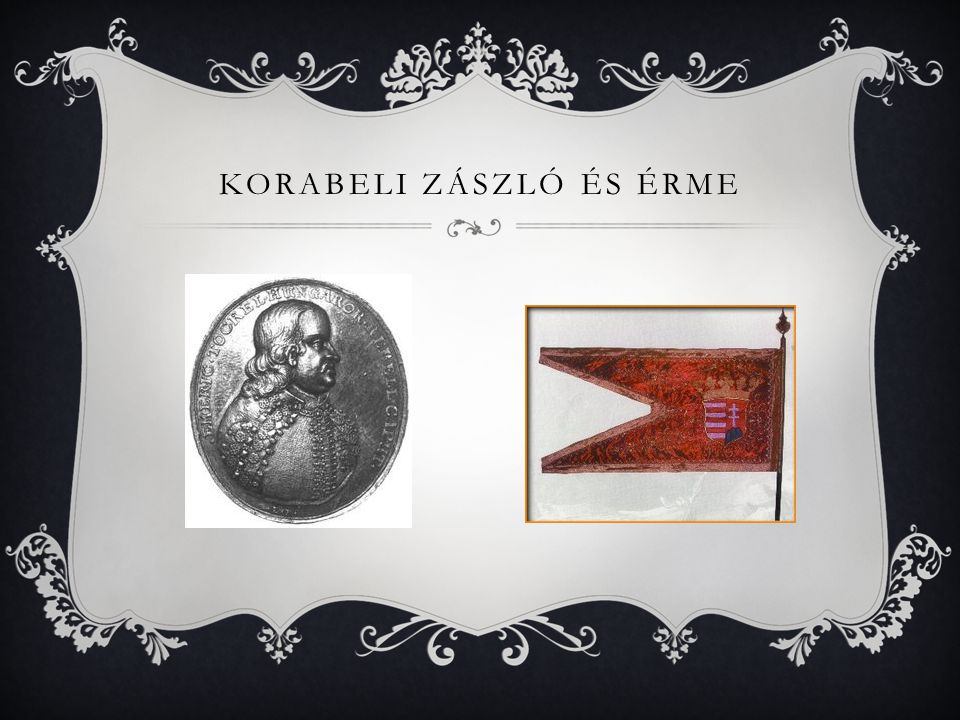 Korabeli zászló és érme