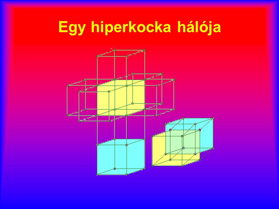 Egy hiperkocka hálója
