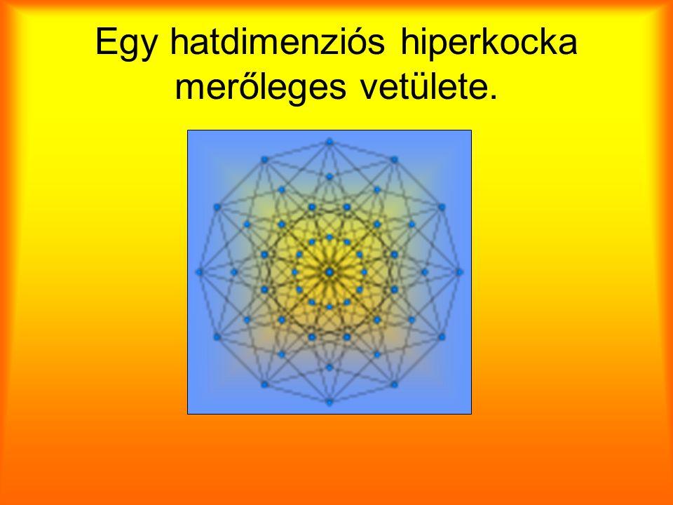 Egy hatdimenziós hiperkocka merőleges vetülete.