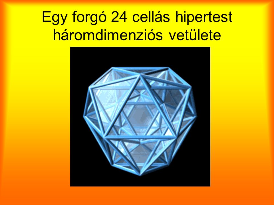 Egy forgó 24 cellás hipertest háromdimenziós vetülete
