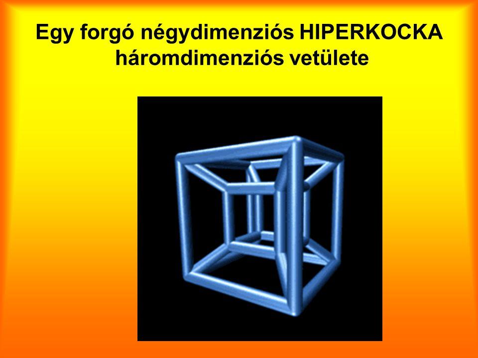 Egy forgó négydimenziós HIPERKOCKA háromdimenziós vetülete