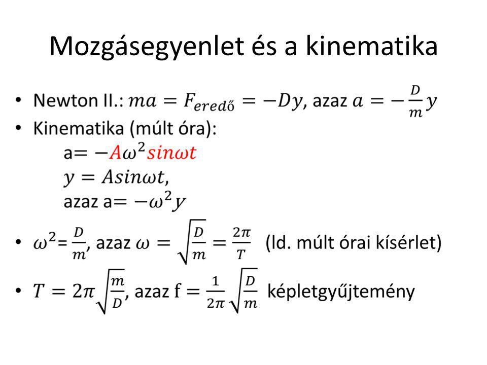 Mozgásegyenlet és a kinematika