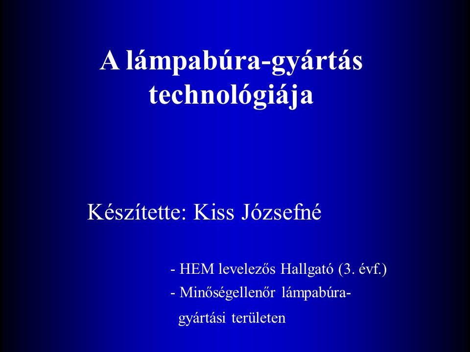 A lámpabúra-gyártás technológiája