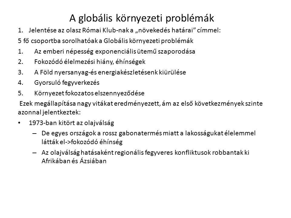 A globális környezeti problémák