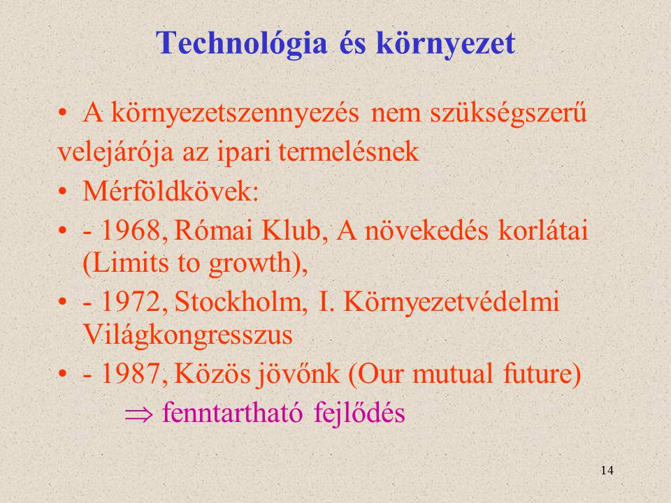 Technológia és környezet