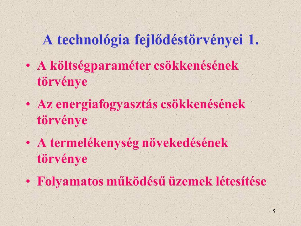 A technológia fejlődéstörvényei 1.