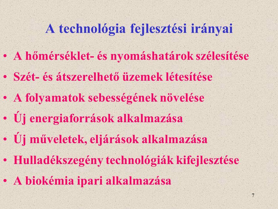 A technológia fejlesztési irányai