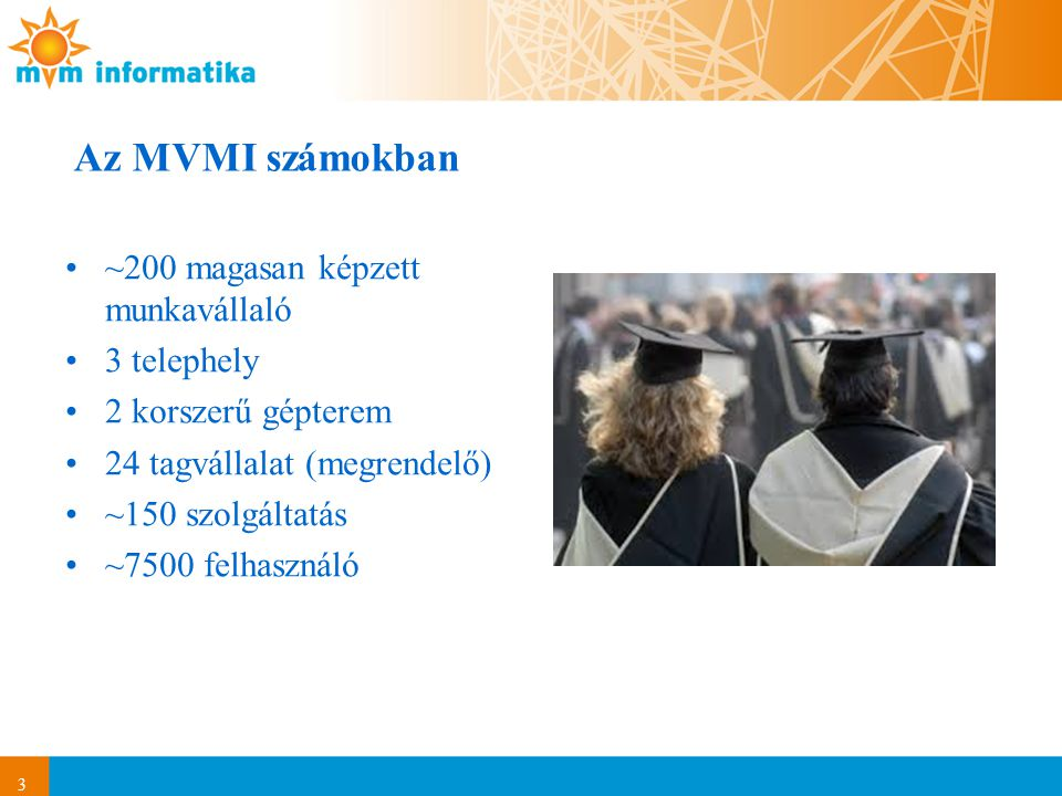 Az MVMI számokban ~200 magasan képzett munkavállaló 3 telephely