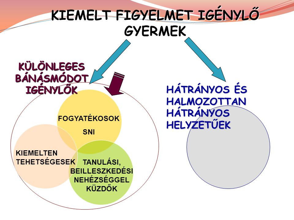 KIEMELT FIGYELMET IGÉNYLŐ GYERMEK