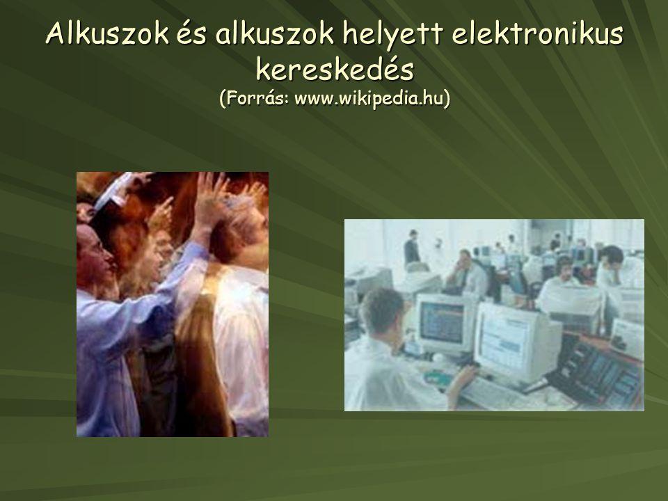 Alkuszok és alkuszok helyett elektronikus kereskedés (Forrás: www