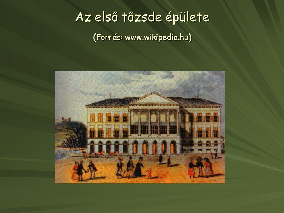 Az első tőzsde épülete (Forrás: www.wikipedia.hu)