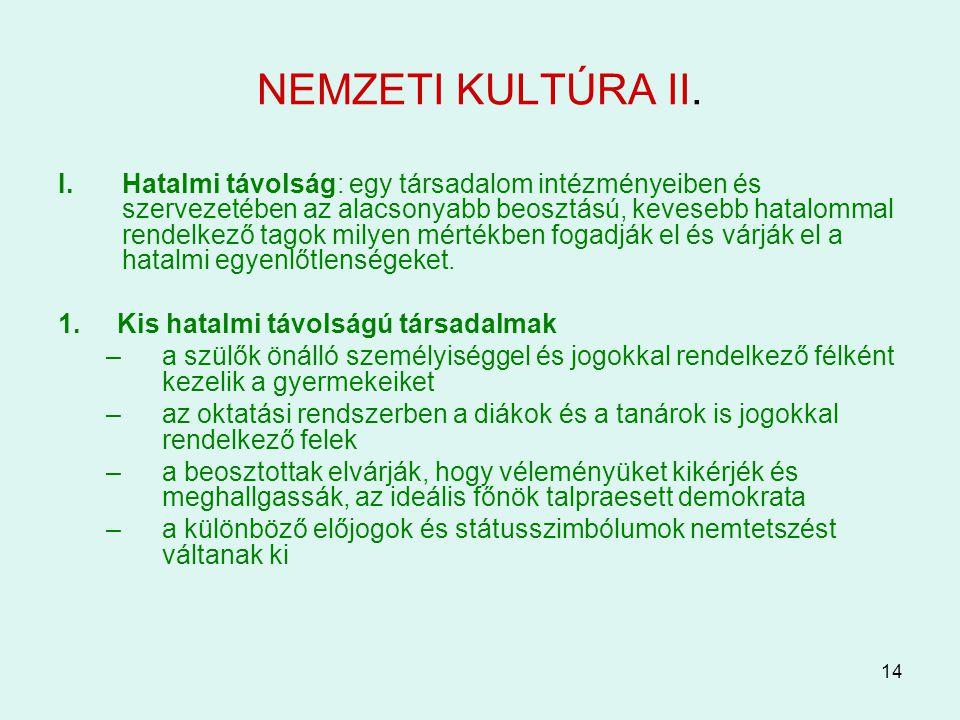NEMZETI KULTÚRA II.