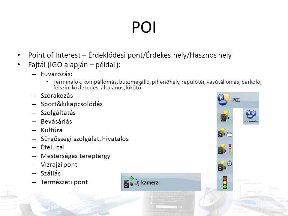 POI Point of Interest – Érdeklődési pont/Érdekes hely/Hasznos hely