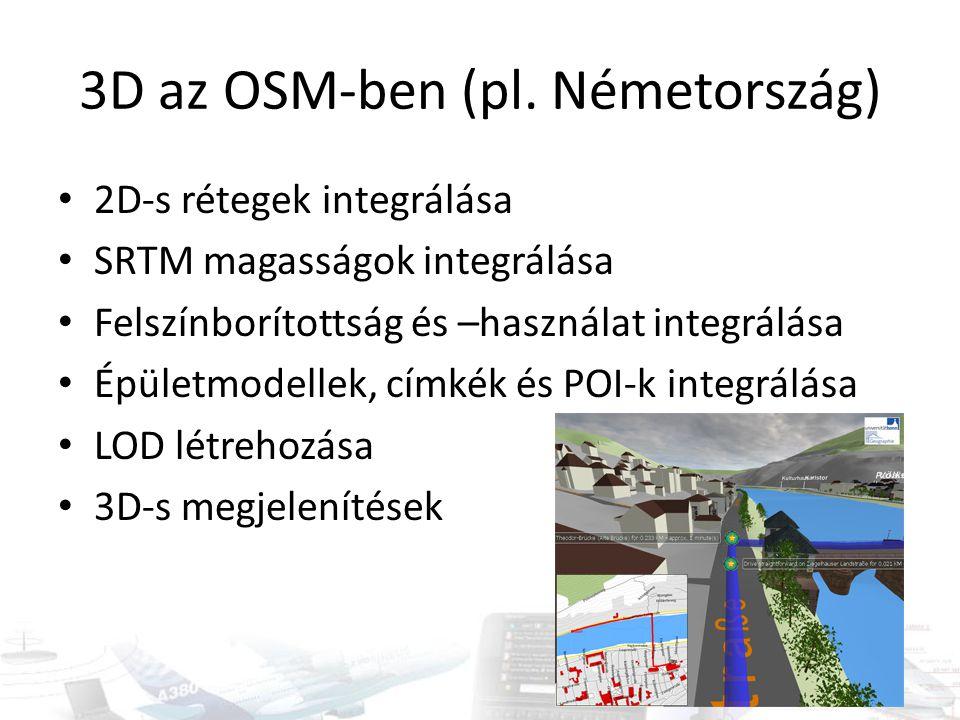 3D az OSM-ben (pl. Németország)