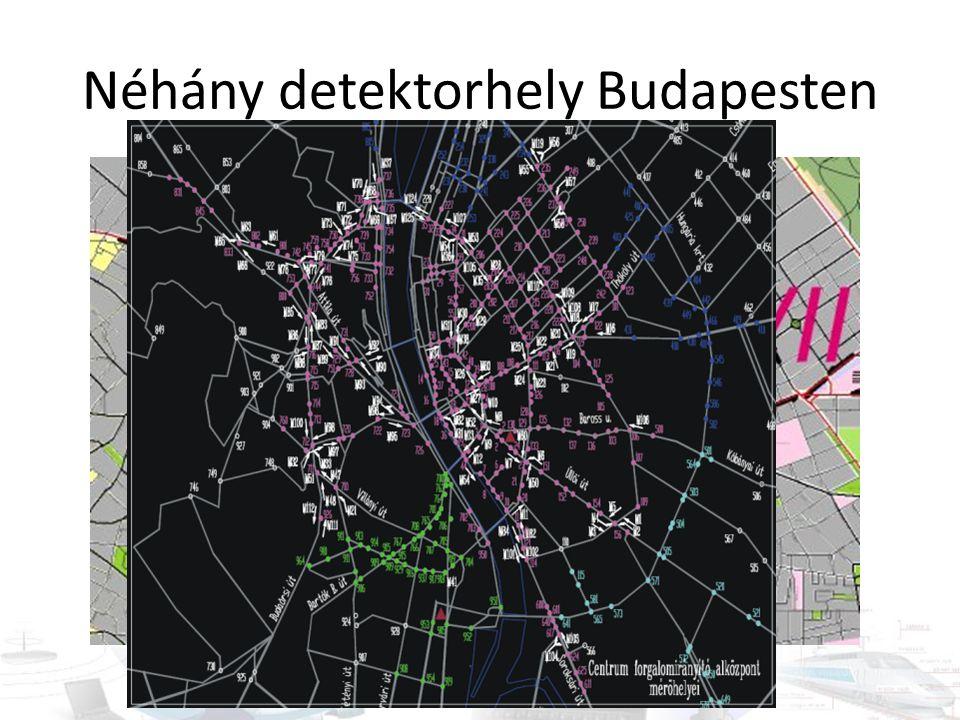Néhány detektorhely Budapesten