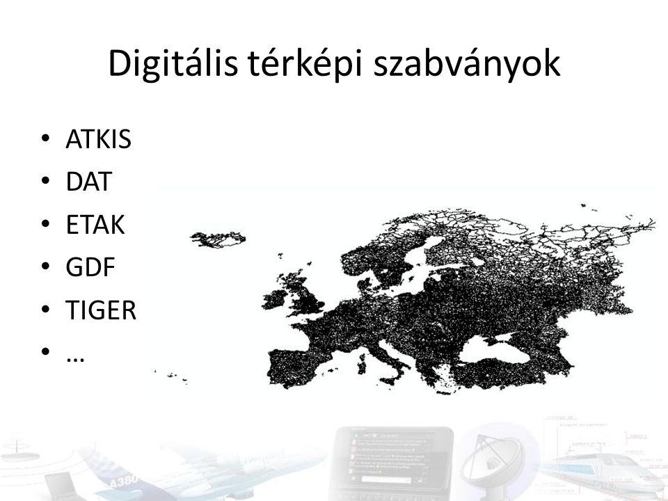 Digitális térképi szabványok
