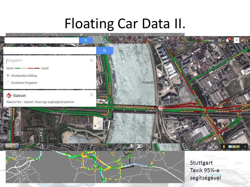 Floating Car Data II. Stuttgart Taxik 95%-a segítségével