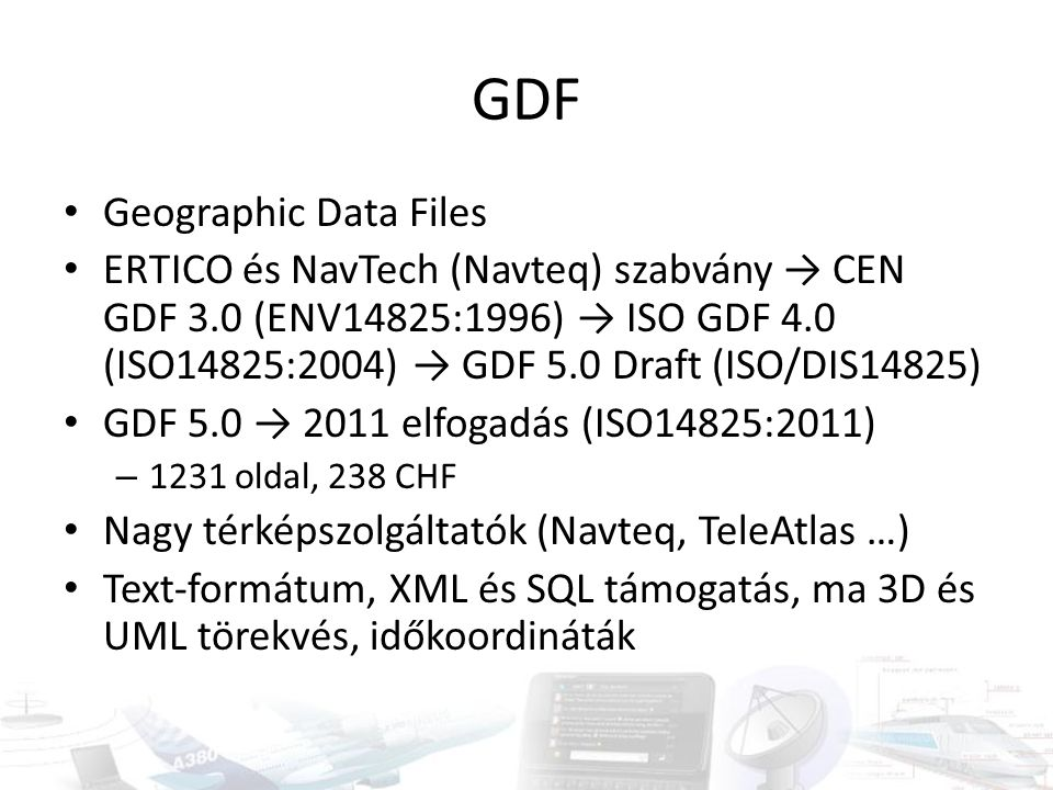 GDF Geographic Data Files